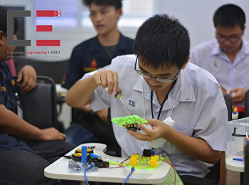 สาขาวิชาวิศวกรรมคอมพิวเตอร์ ได้จัดโครงการอบรมเสริมทักษะพื้นฐานแก่เยาวชน หลักสูตรค่ายหุ่นยนต์ (Robot Camp)